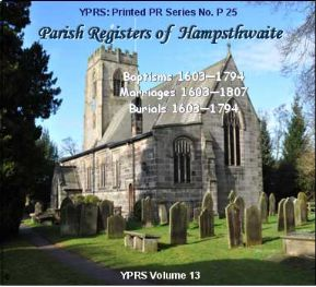 Hampsthwaite, Christenings & Burials 1603 - 1794; Marriages 1603 - 1807 (P.25)